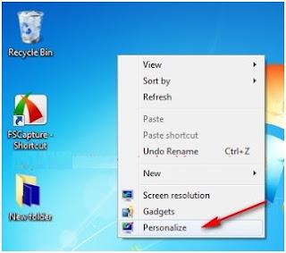 Mengaktifkan fitur transparan pada themes di windows 7 (enable transparency)