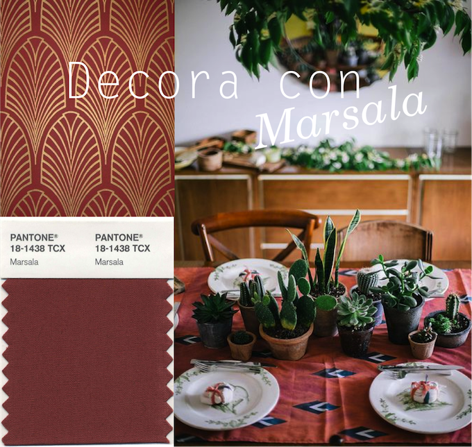 Decorar con Marsala
