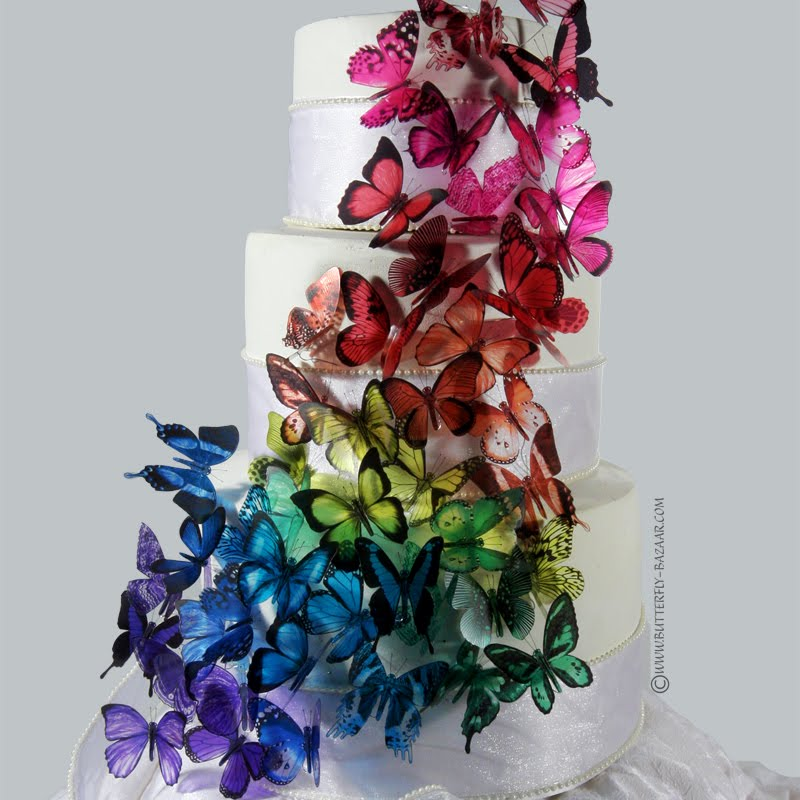 Cake Decoration Butterfly : Purple Butterfly Wedding Cakes Decoration Ideas Wedding Ido