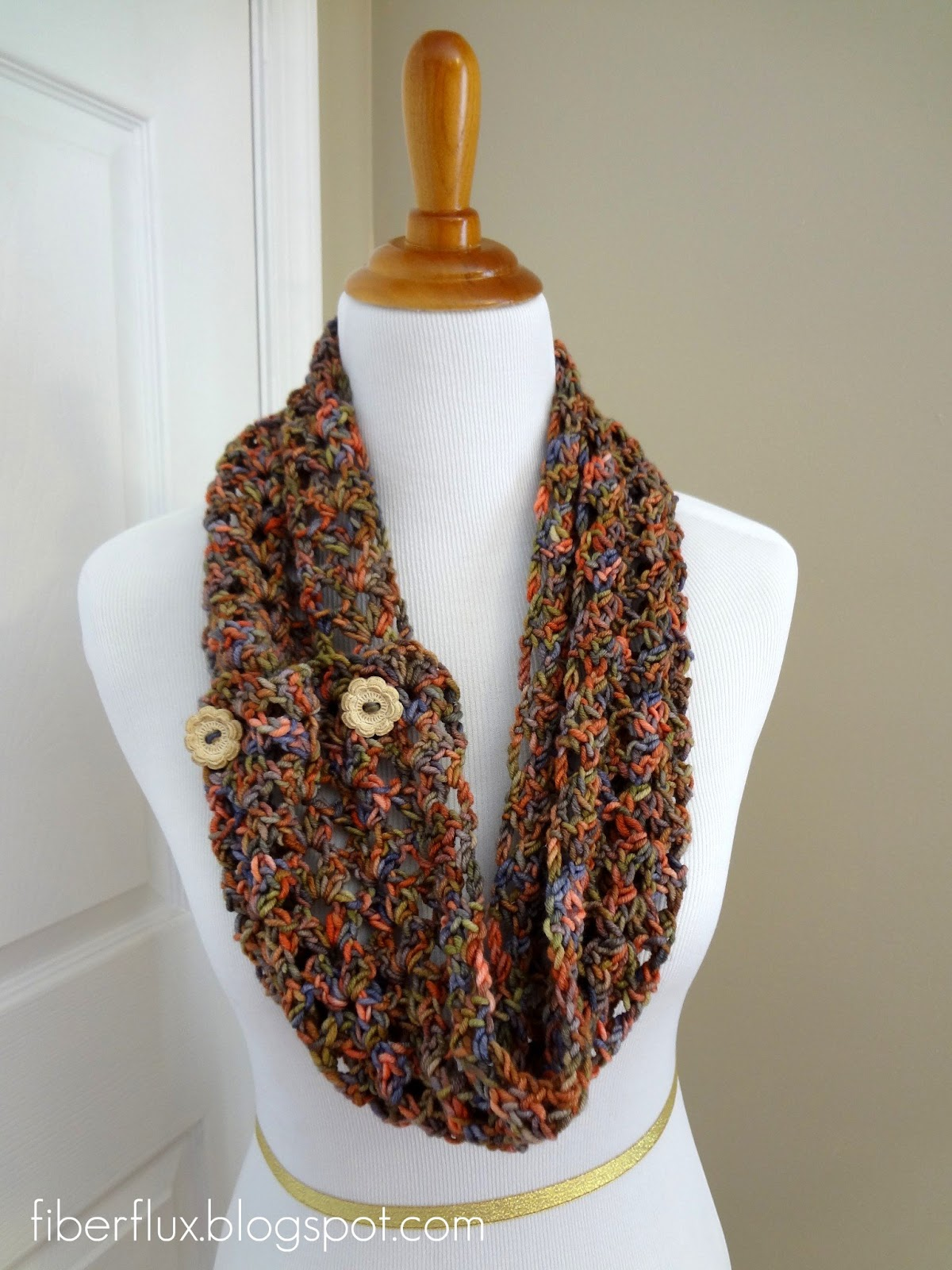 Free Crochet Pattern For Button Wrap : Fiber Flux: Free Crochet Pattern...Flower Patch Button Wrap