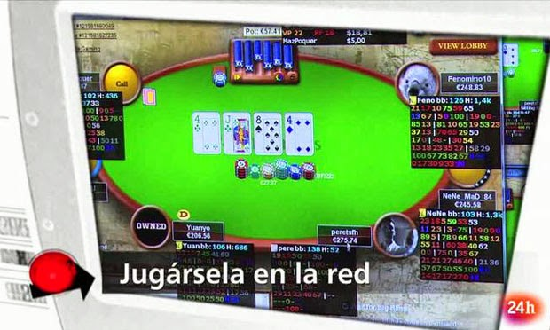 Jugársela en la red documental poker