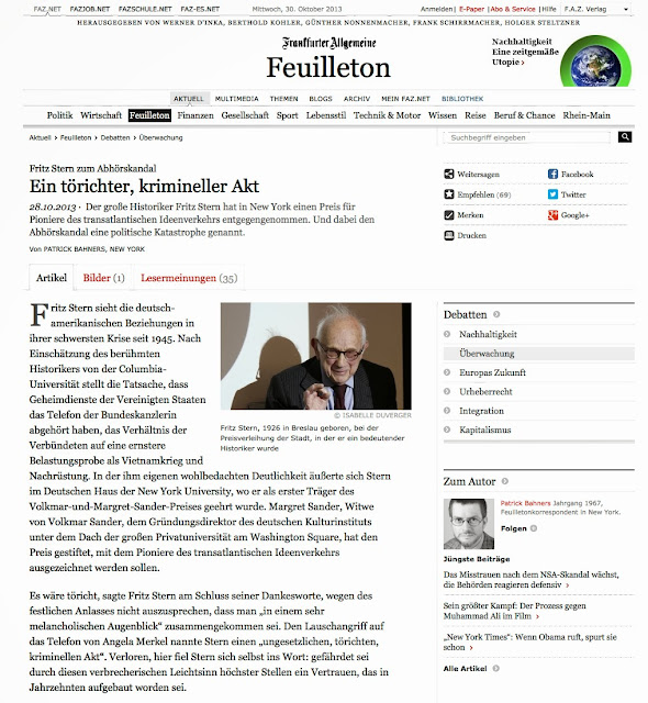 Sander Prize - Fritz Stern 2013