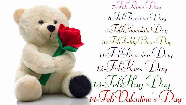 Teddy Day Valentine week list, Teddy day 2016 valentine week schedule
