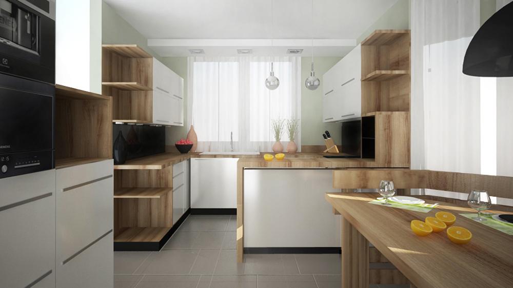 Biała kuchnia z czarnymi akcentami  design dla Ciebie!