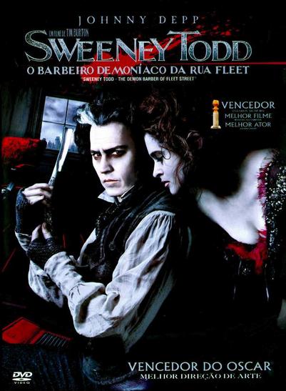 Filme Sweeney Todd O Barbeiro Demoníaco da Rua Fleet Dublado AVI DVDRip