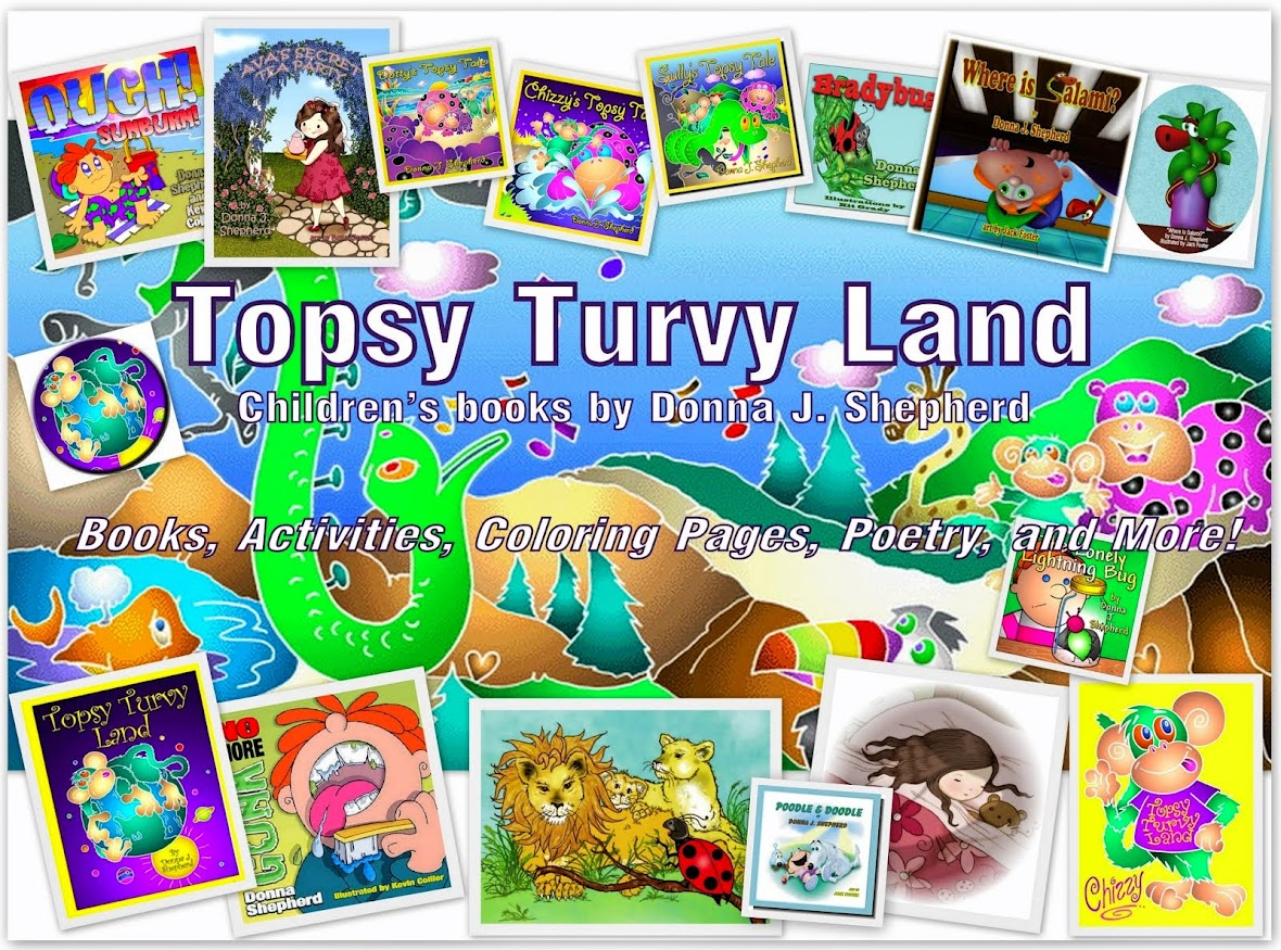 Topsy Turvy Land - Activities, Coloring Pages, Poetry, and More!