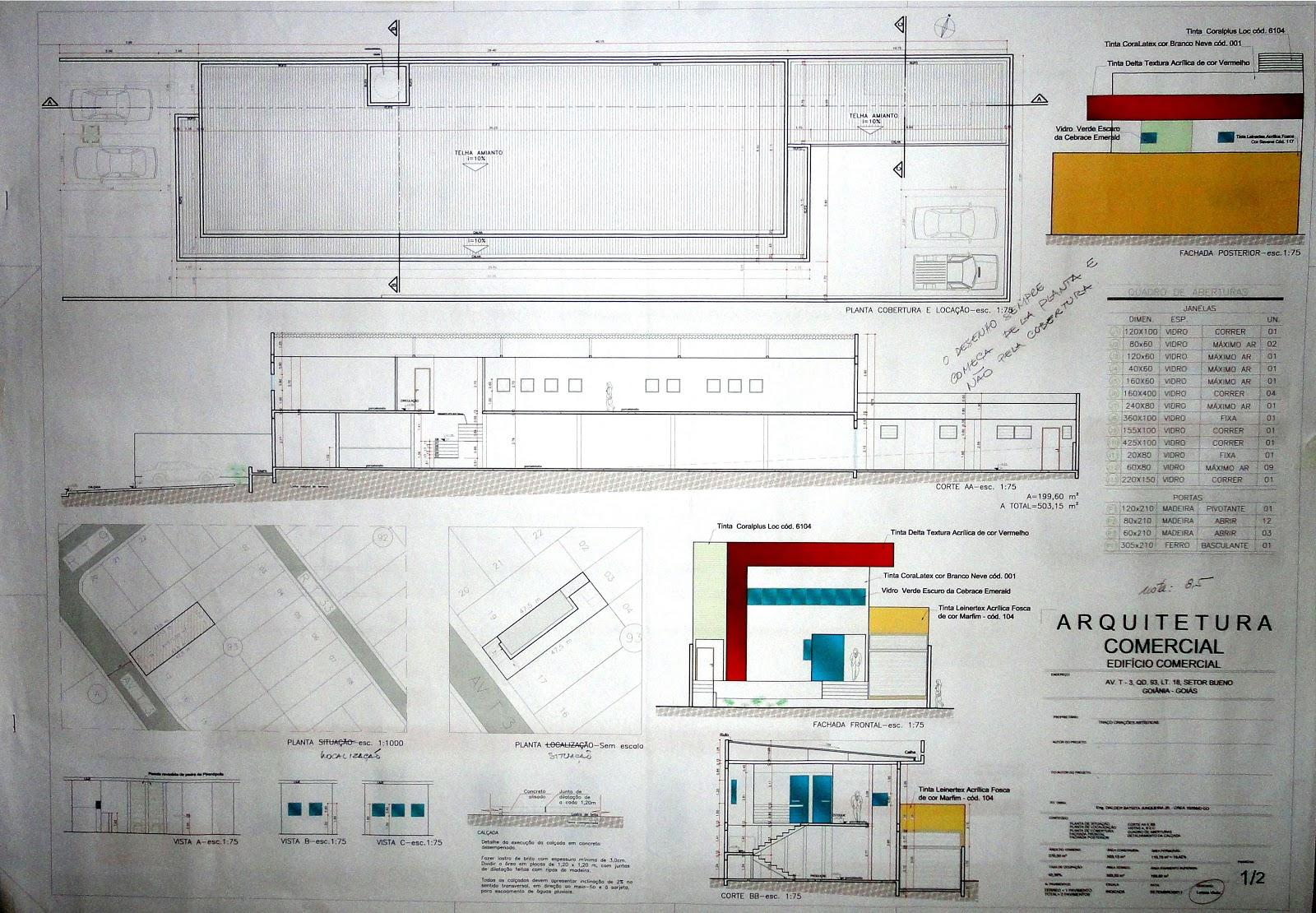 Urbanismo: Projeto Executivo de uma Arquitetura Comercial #B47B0E 1600 1110
