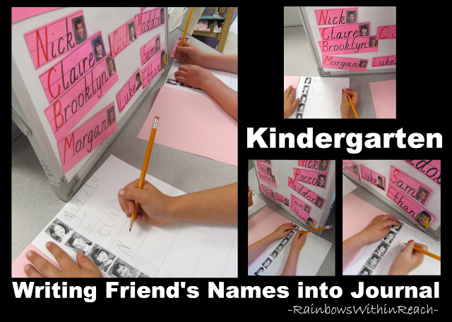 photo of: Kindergarten writing center, fine motor in kindergarten, writing in kindergarten