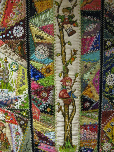 Crazy Quilt Pattern Images : Quilting Blog - Cactus Needle Quilts, Fabric and More: Little Darlings Crazy Quilt
