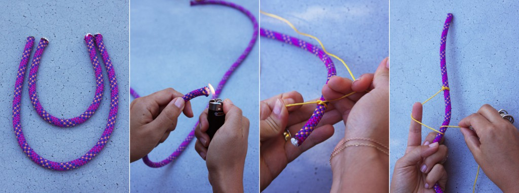 Как закрепить резинку в браслете своими руками