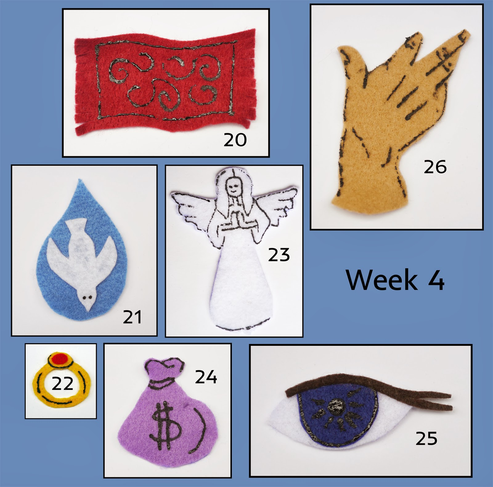 Jesus tree symbols bible readings and colouring pages symbol well reading john 44 42 ncpb the samaritan woman p123 colouring page samaritan woman at the well source calvarycurriculum biocorpaavc
