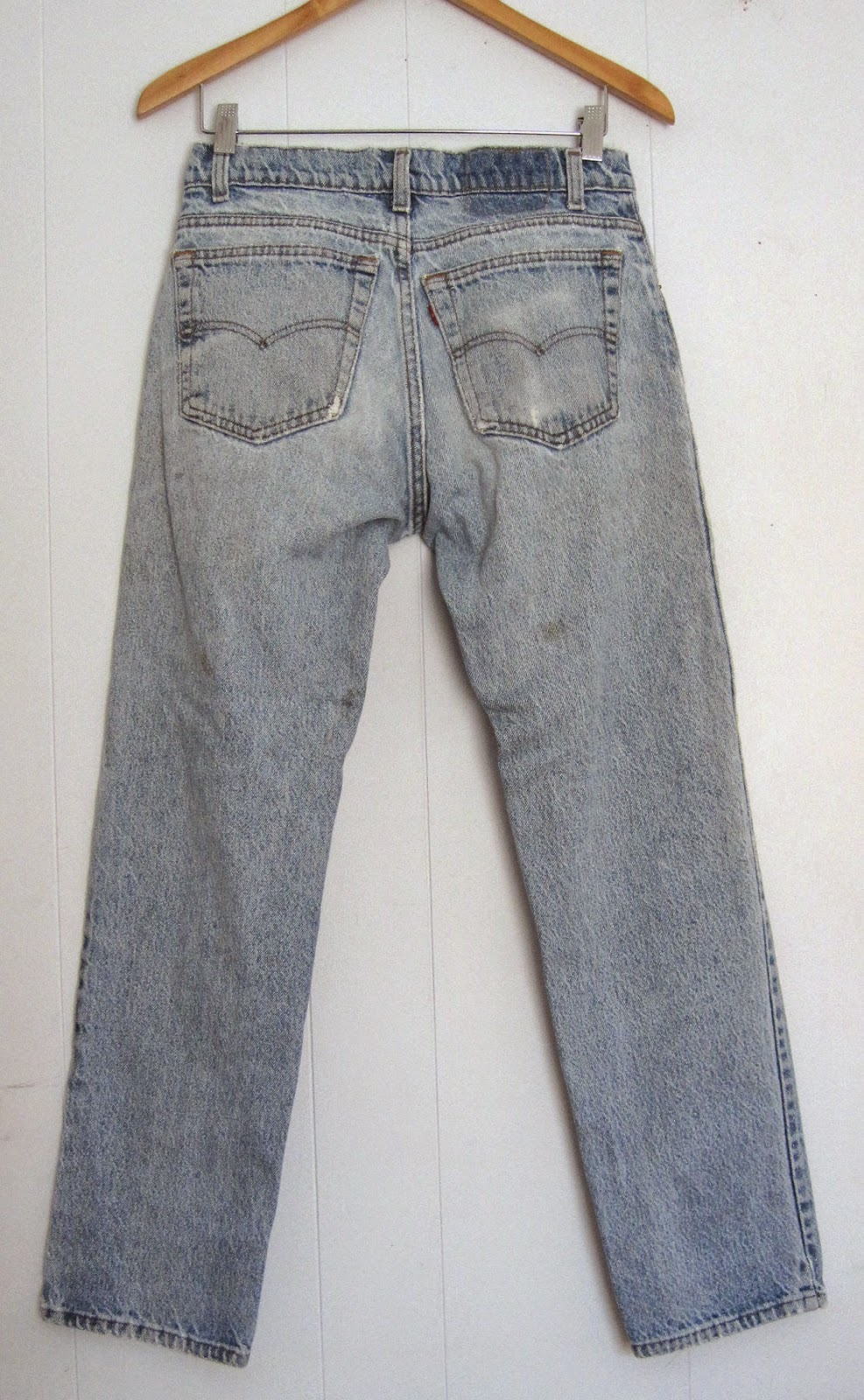 Vintage 90's Blogger Blue Jeans Stained and Faded