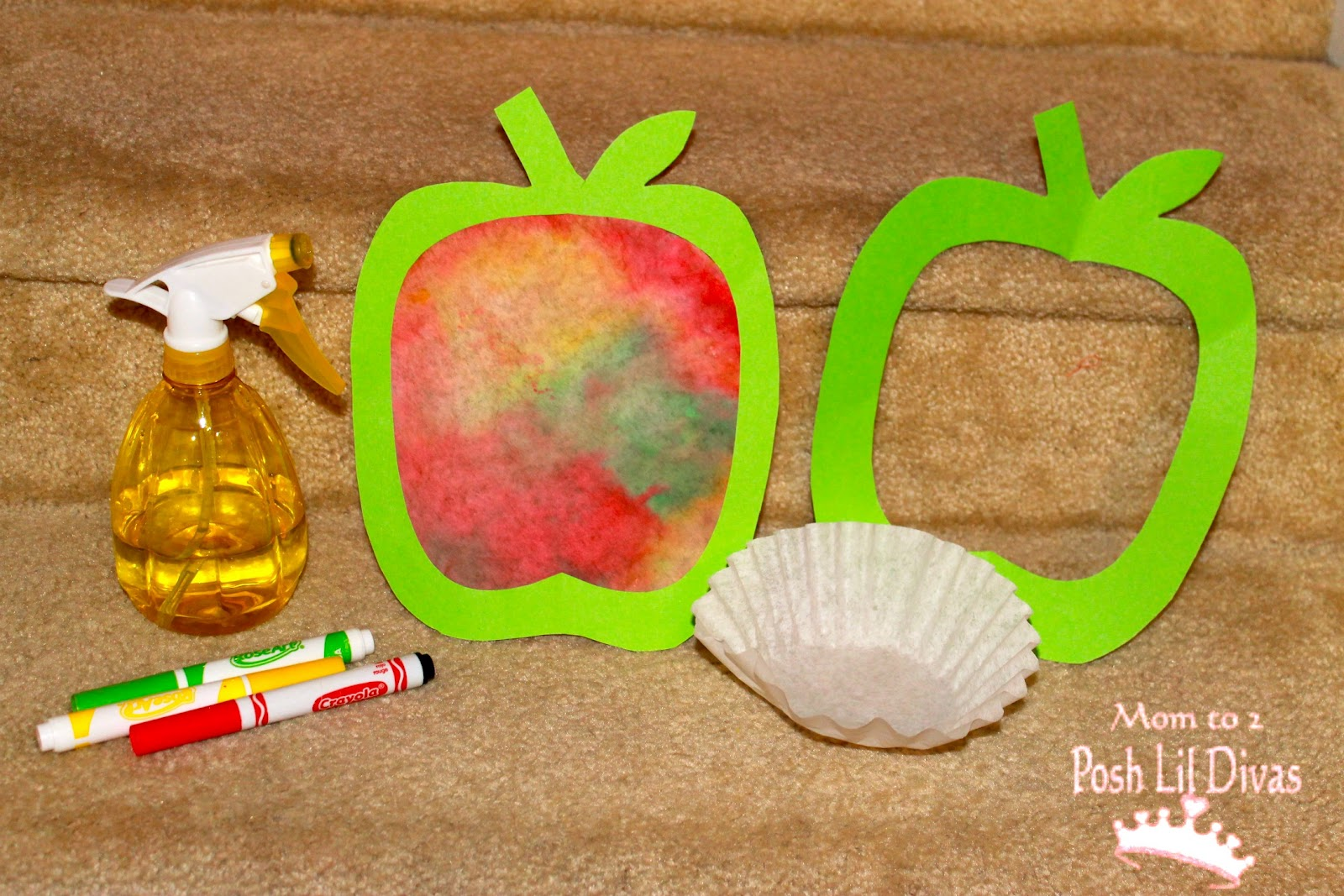 Fall Christian Crafts Toddlers http://www.momto2poshlildivas.com/2012/09/fall-crafts-coffee-filter-apple-art-for.html