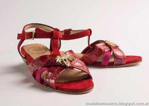 Zapatos Lomm verano 2014. Sandalias Chatas Moda 2014.