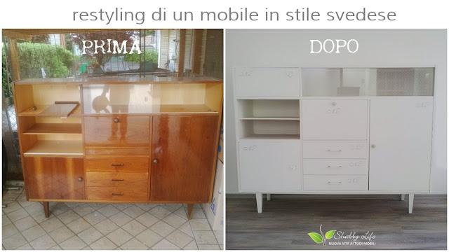 mobile prima e dopo restyling shabby