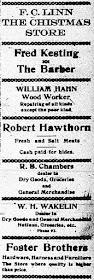 Business Directory 1918 Ad