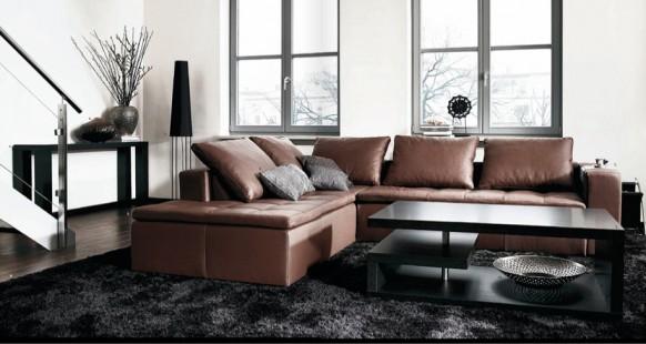 Dise o de muebles con estilo para una sala de estar oscura for Muebles con estilo