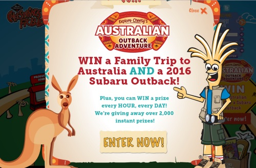 Cheesestrings Australian Outback Adventure Contest