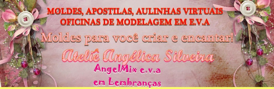 Apostilas de Moldes AngelMix e.v.a em Lembranças