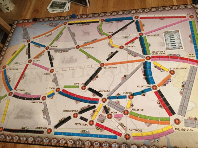 Ticket to Ride Pennsylvania board