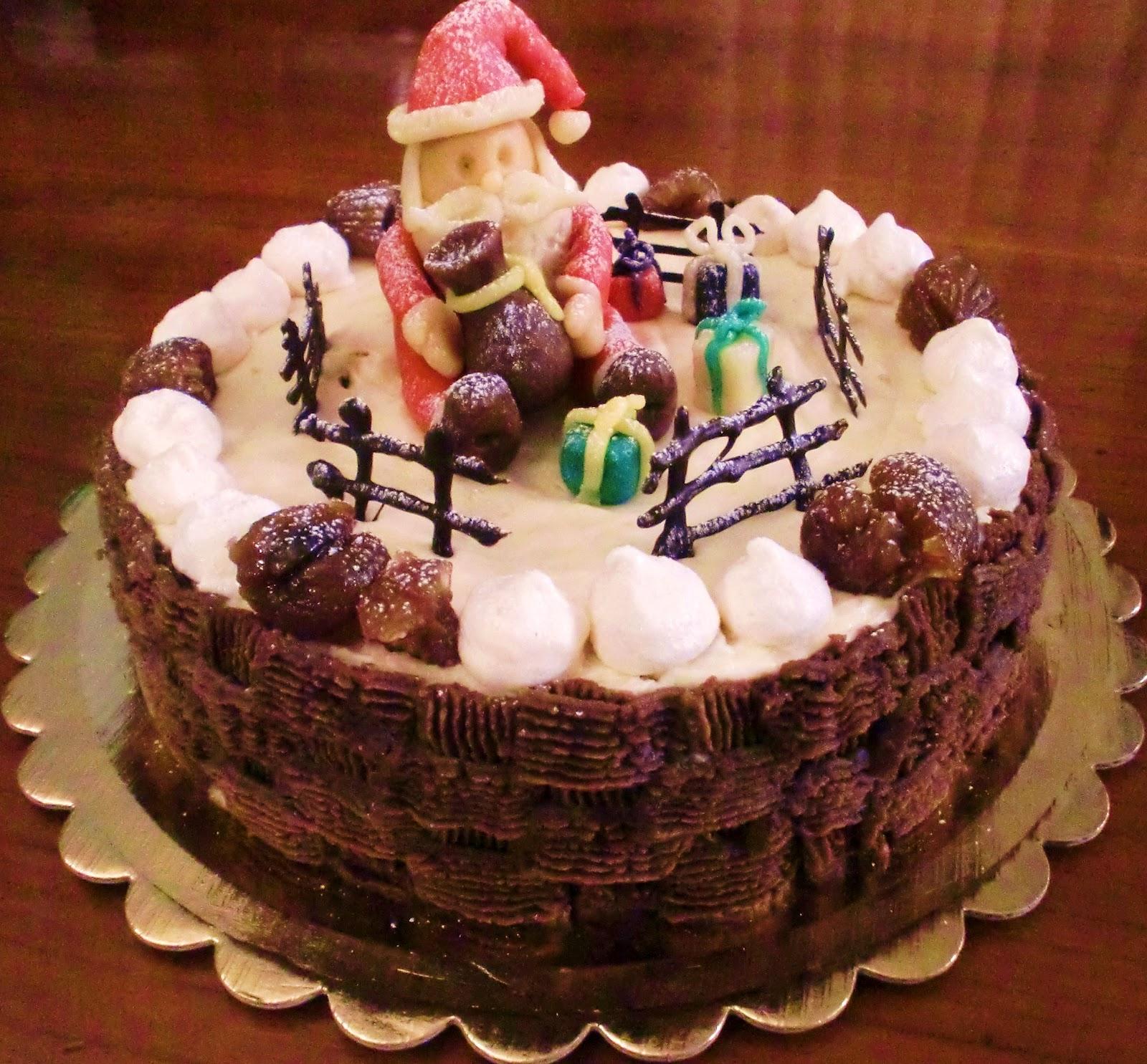 La seconda torta di silvia per il contest di montersino - Torte natalizie decorate ...