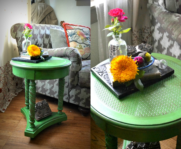 11 eureka diy iguana green side table for Table th not bold