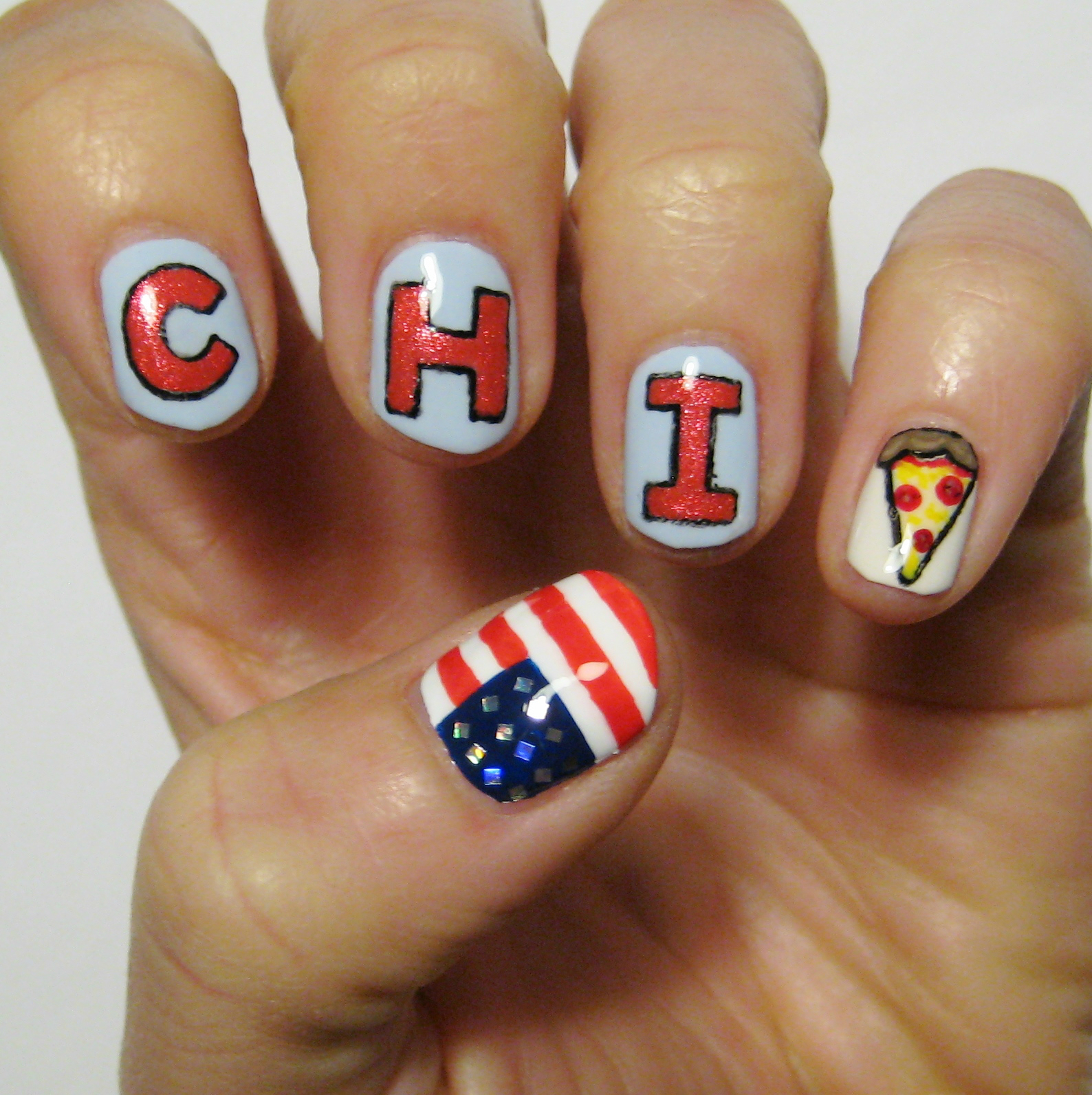 Dahlia Nails: Chicago Marathon Nails!