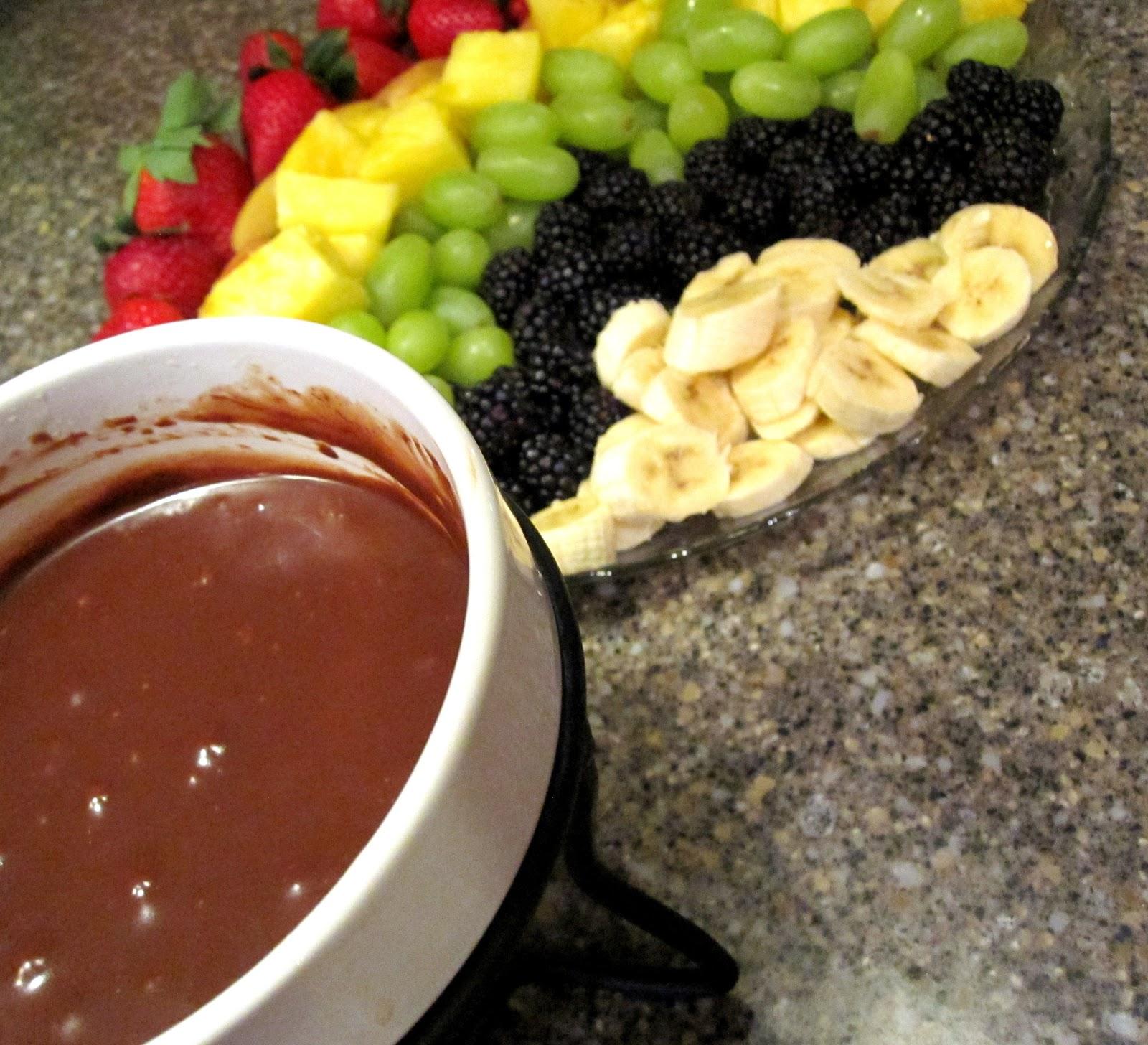 Recipe: Rainbow Chocolate Fondue - Rae Gun Ramblings