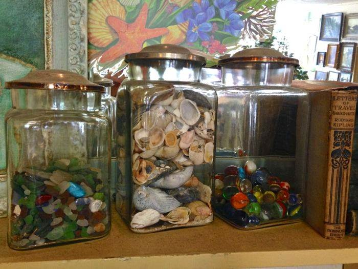 Shell and seaglass collections at The Pickled Hutch
