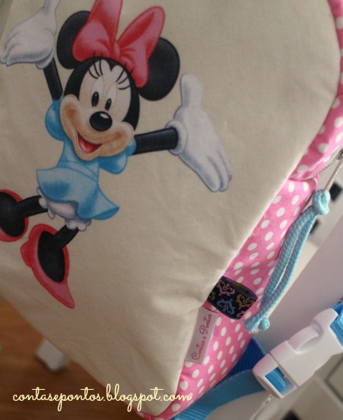 Mochila em tecido Minnie