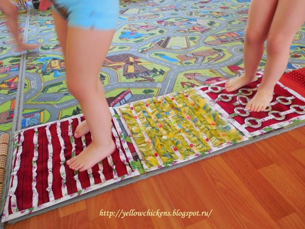 Как сделать массажные коврики для детей своими7