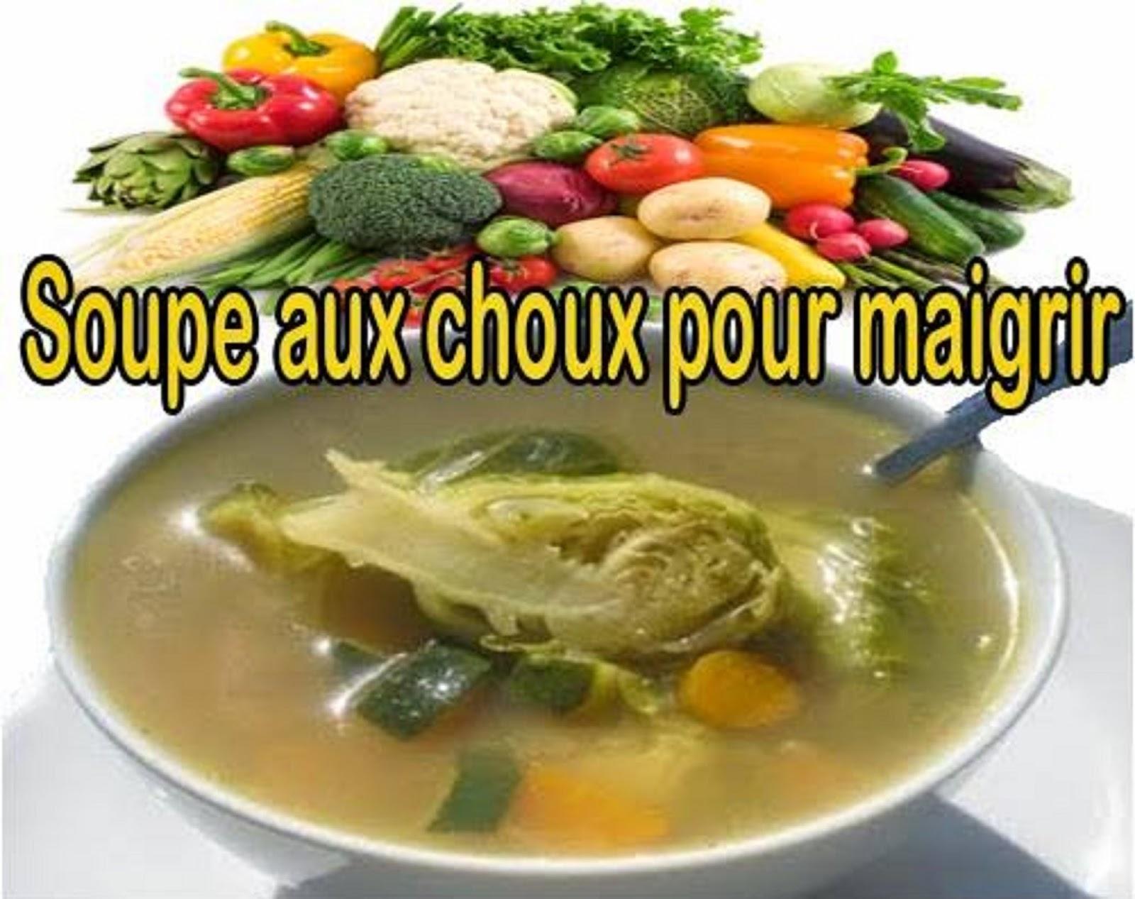 soupe amincissante chou recette
