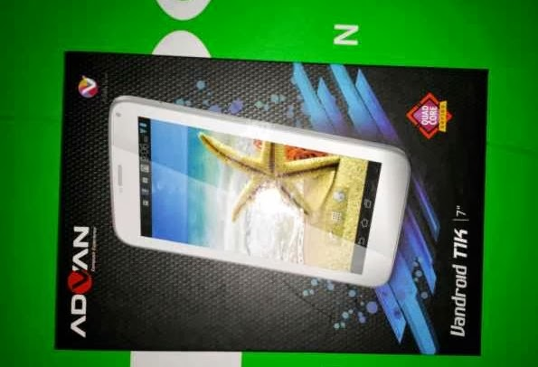 Advan Vandroid T1K,Tablet murah,tablet lokal,tablet quad-core murah