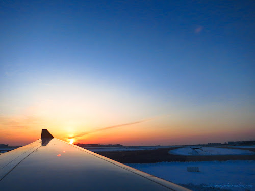 Sunrise in Incheon Airport