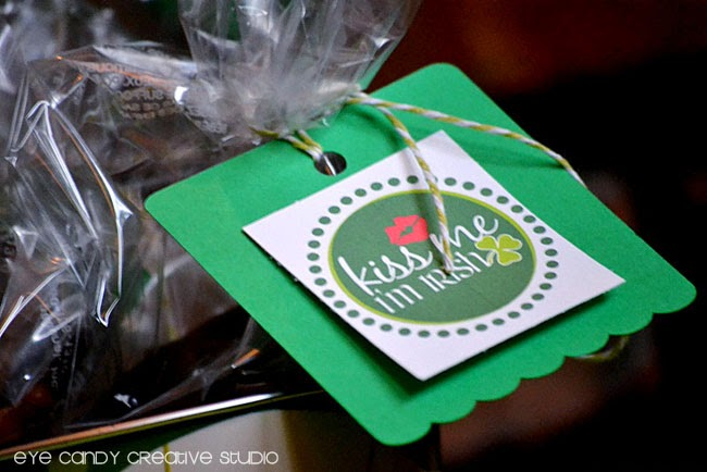 kiss me i'm irish toppers, st pattys day tags, party tags