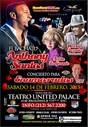 ANTHONY SANTOS EN EL UNITED PALACE 14 FEB