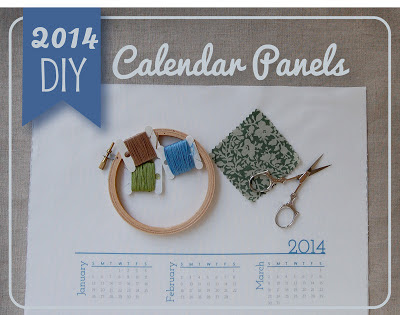 2014 fabric calendar panels for embroidery