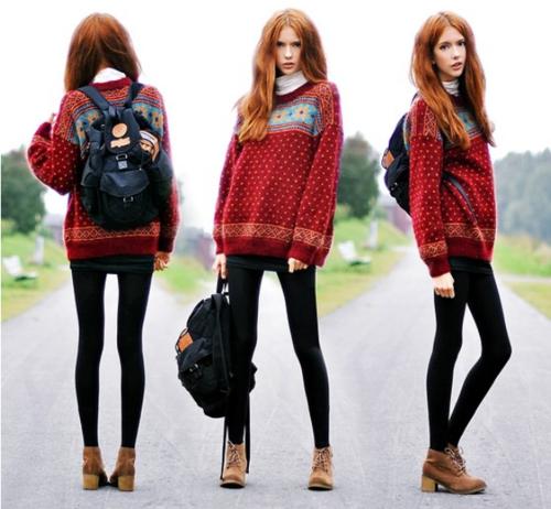Rote haare pinke kleidung