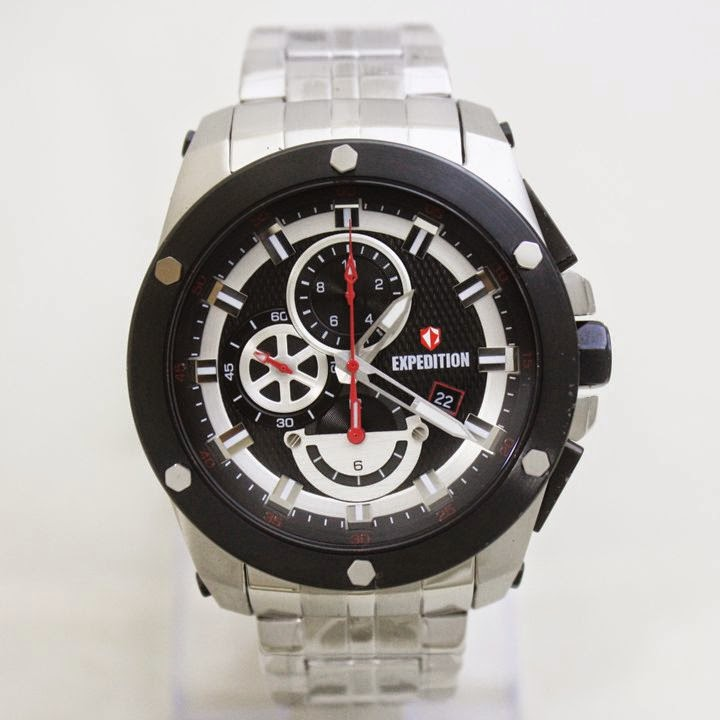 EXPEDITION E6643M Silver red 47mm 5 Atm