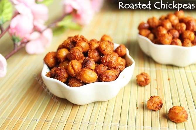 Learning-to-cook: Roasted Chickpeas - Spicy Version / Oven Roasted