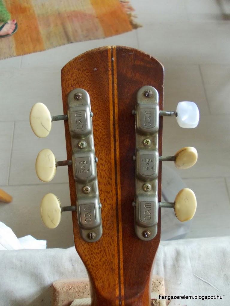Eko jazz guitar headstock back Eko jazzgitár fej