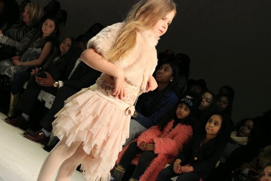 Chichi Mary | petitePARADE Fashion Show Fall 2015: Biscotti and Kate Mack tulle skirt with faux fur shrug
