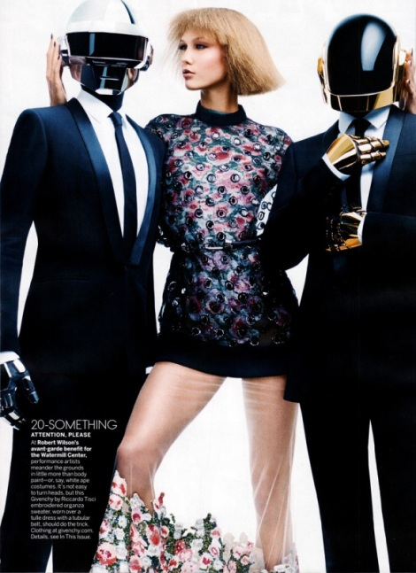 Daft Punk and Karlie Kloss by Craig McDean