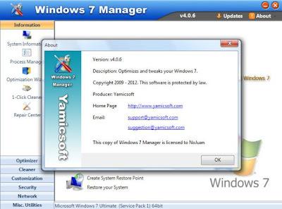 yamicsoft windows 7 manager 4.0.6