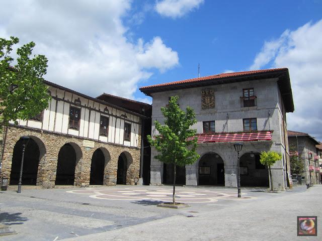 Barrio de Zubiaur en Orozko (Bizkaia)