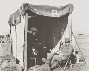 Officer's shelter on the veld