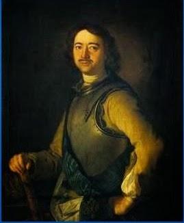 Peter de Grote, van 1682 - 1725 tsaar van Rusland