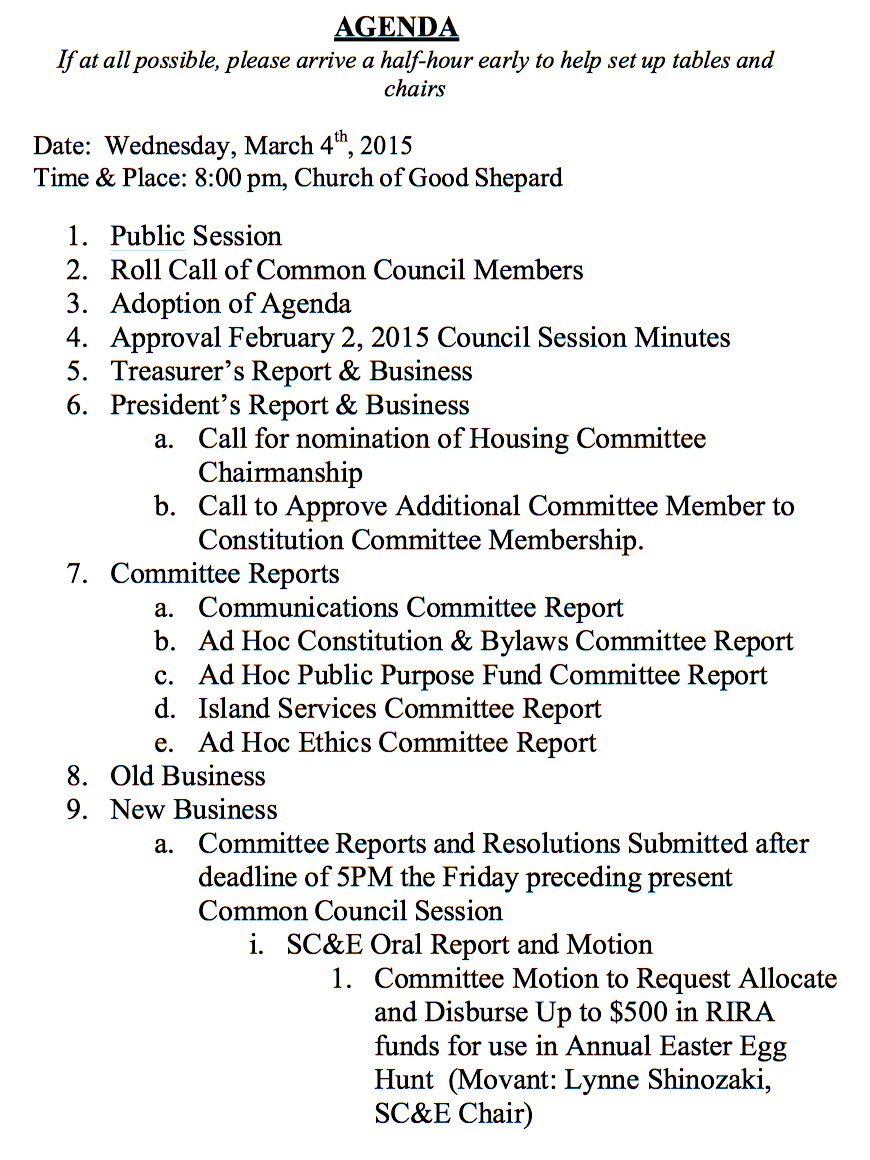 Resident+Council+Meeting+Forms Resident Council Meeting Agenda