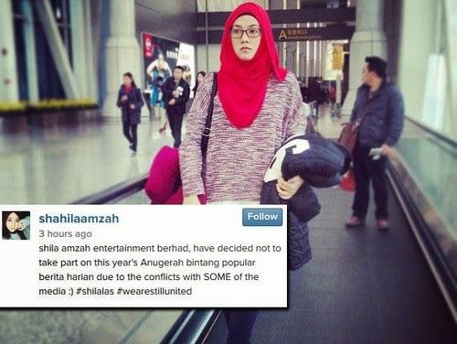 ABPBH2014 Shila Amzah Tarik Diri Kerana Diboikot