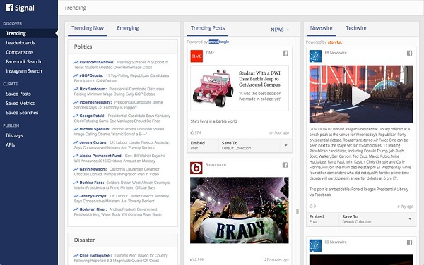 Facebook launches Signal, a curation tool for journalists